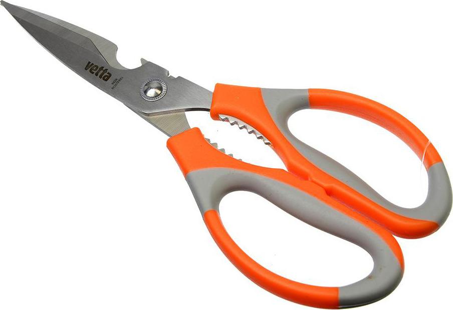 Ножницы кухонные Vetta, 884213, оранжевый, длина 21 см ножницы кухонные uslanbfay ryp133