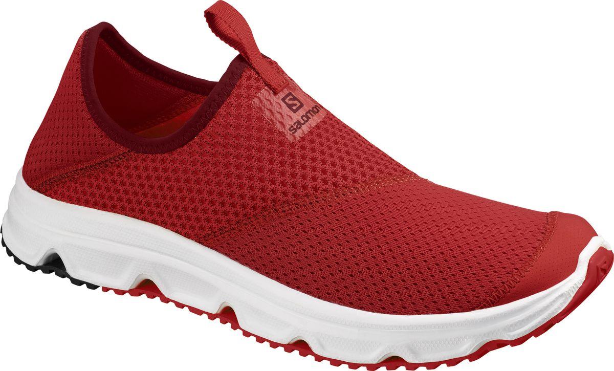 Кроссовки мужские Salomon Rx Moc 4, цвет: красный. L40673700. Размер 8 (40,5)L40673700RX MOC 4.0 — восстанавливающая обувь, такая удобная и легкая, что вы захотите носить ее абсолютно везде. Промежуточная подошва с превосходной амортизацией, супердышащий сетчатый верх и подошва с возвратом энергии — все, что вам нужно для активной тренировки. Складной каблук позволяет носить их как сандалии или ботинки. Восстанавливающие работоспособность шлепанцы, которые вы захотите носить каждый день. Амортизация Большая промежуточная стелька EVA обеспечивает мягкость движений уставшим ногам. Безупречный комфорт без швов Ткань без швов не будет натирать или царапать кожу стоп. Минимальный вес Легкая промежуточная подошва EVA и эластичный сетчатый верх уменьшают вес, что приводит к минимальному расходу энергии, ведь вы заслуживаете отдых.