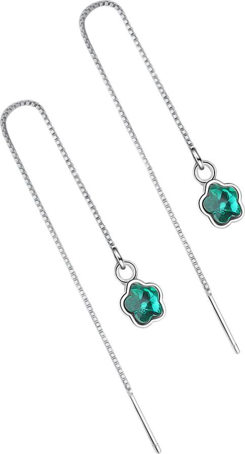 Серьги Ice&High, латунный сплав, серебро, кристаллы swarovski, ZS888831M