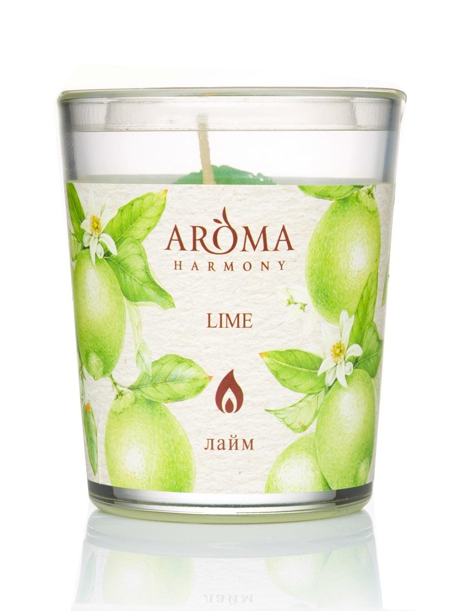 Свеча Ароматическая Лайм, 160 гр свеча медитация aroma naturals