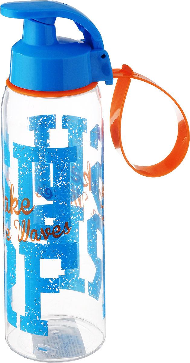 Бутылка для воды Herevin, 161415-120, синий,оранжевый, 500 мл бутылка для воды herevin цвет красный белый 500 мл