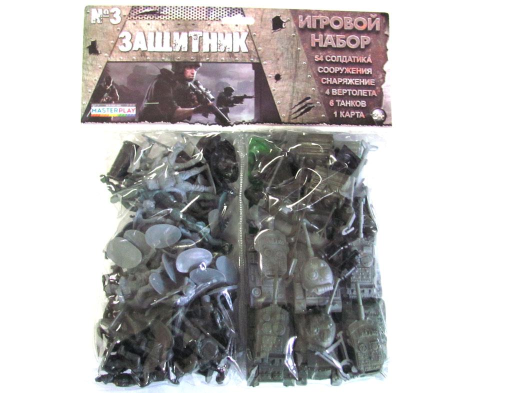 Набор солдатиков Colorplast Солдатики зеленый 1 061 набор кубиков 88 мм 20 шт уп colorplast