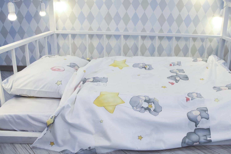 Детский комплект постельного белья Уютная История Детский с принтом, SDET