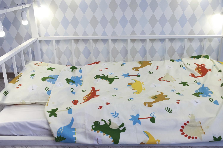 Детский комплект постельного белья Уютная История Детский с принтом, DINDET