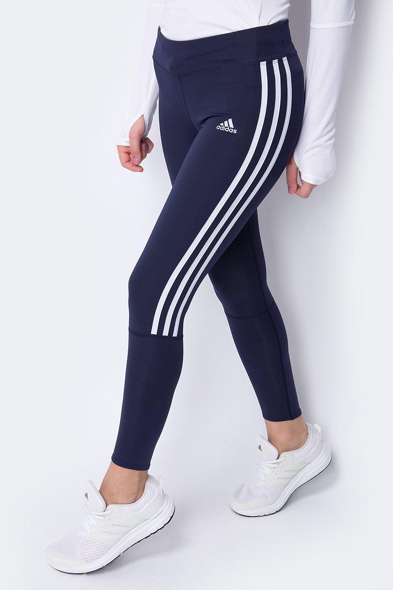 Тайтсы женские Adidas Run 3S Tgt W, цвет: синий. DQ2590. Размер M (46/48)DQ2590