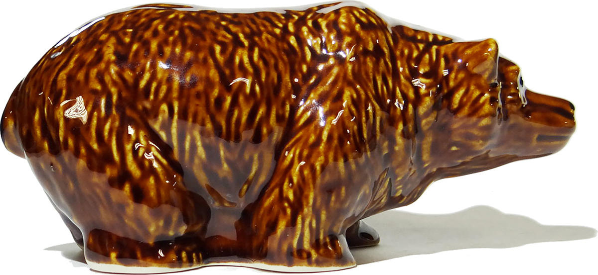 Статуэтка Медведь. Керамика. Россия, конец XX века хрустальная статуэтка медведь cristallerie royale de champagne