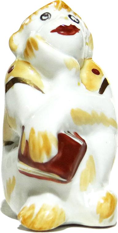 Статуэтка Обезьяна с книгой. Дулево. Фарфор. СССР, конец XX века статуэтка обезьяна с книгой дулево фарфор ссср конец xx века