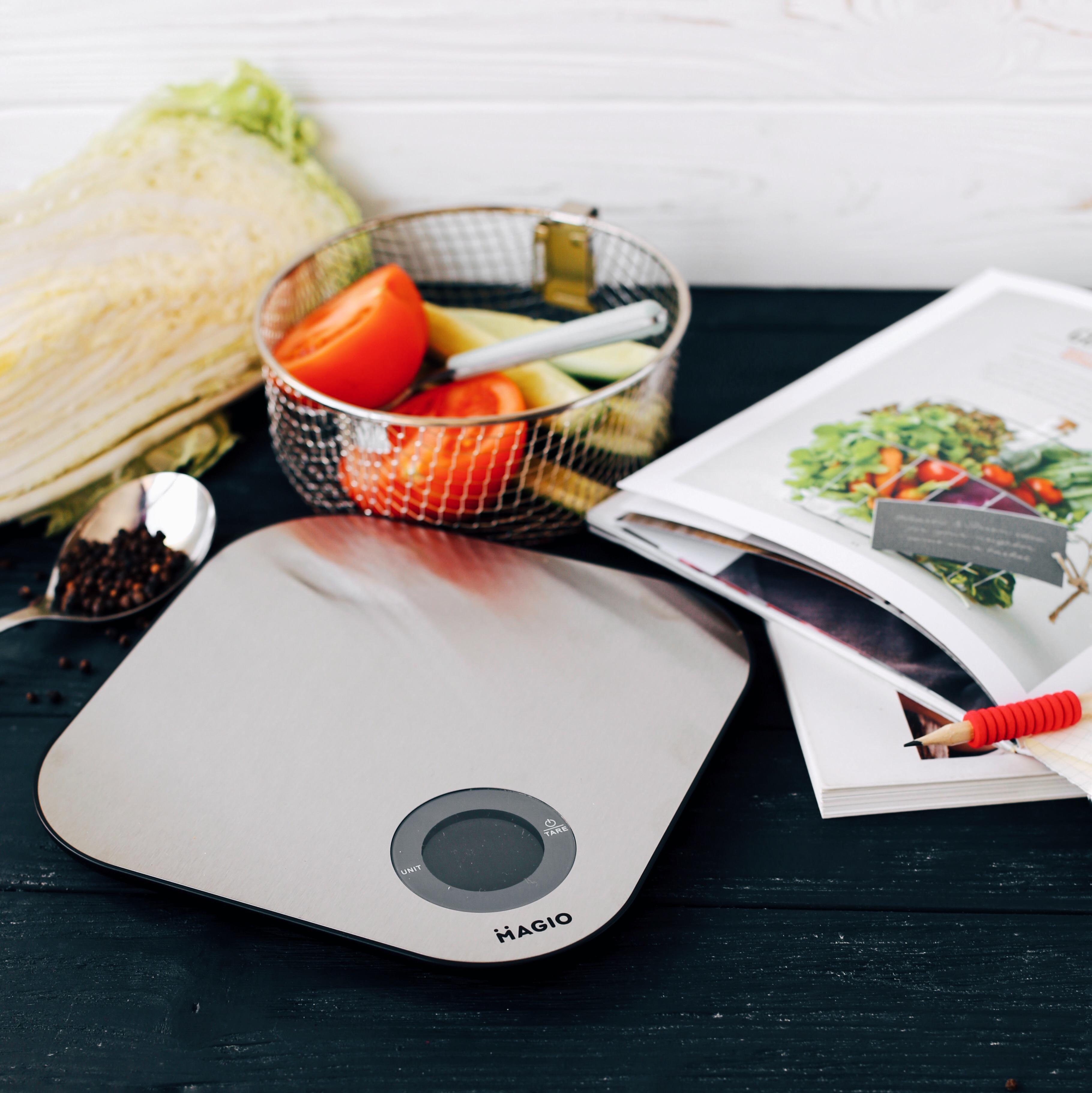 Кухонные весы Magio стальные, МG-792