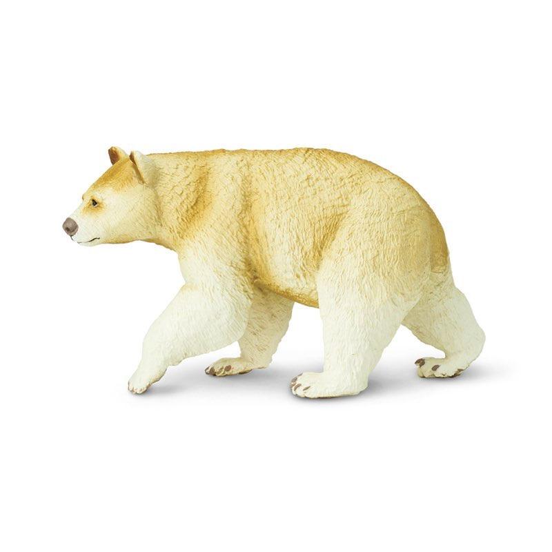 """Фигурка Safari Ltd Кермодский медведь, 100045 белый100045Кермодский медведь обитает исключительно в лесах западного побережья Канады и является подвидом американского чёрного медведя барибала. Коренные жители континента прозвали его """"медведем-призраком"""" из-за необычной светлой шерсти.Научное название: ursus americanus kermodei.Особенности: всего лишь 10 % популяции кермодского медведя наделены белой или кремовой шерстью. Любопытно, что при этом они не являются альбиносами - наличие светлого окраса обеспечивает мутационный ген.О бренде: фигурки Safаri выполнены с непревзойденной точностью и раскрашены вручную. При их производстве используются лучшие современные материалы, которые соответствуют самым строгим мировым стандартам безопасности. Они доставят удовольствие не только маленьким натуралистам, но и коллекционерам.Размер: 11,5 см х 6,5 см.Рекомендуемый возраст: 3+"""