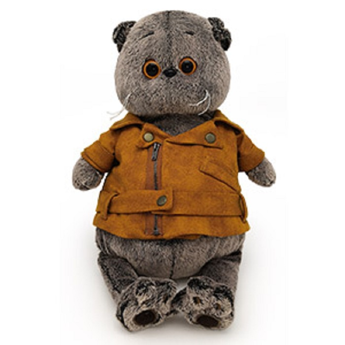 Мягкая игрушка Буди Баса Budibasa Басик в куртке-косухе, 30 см
