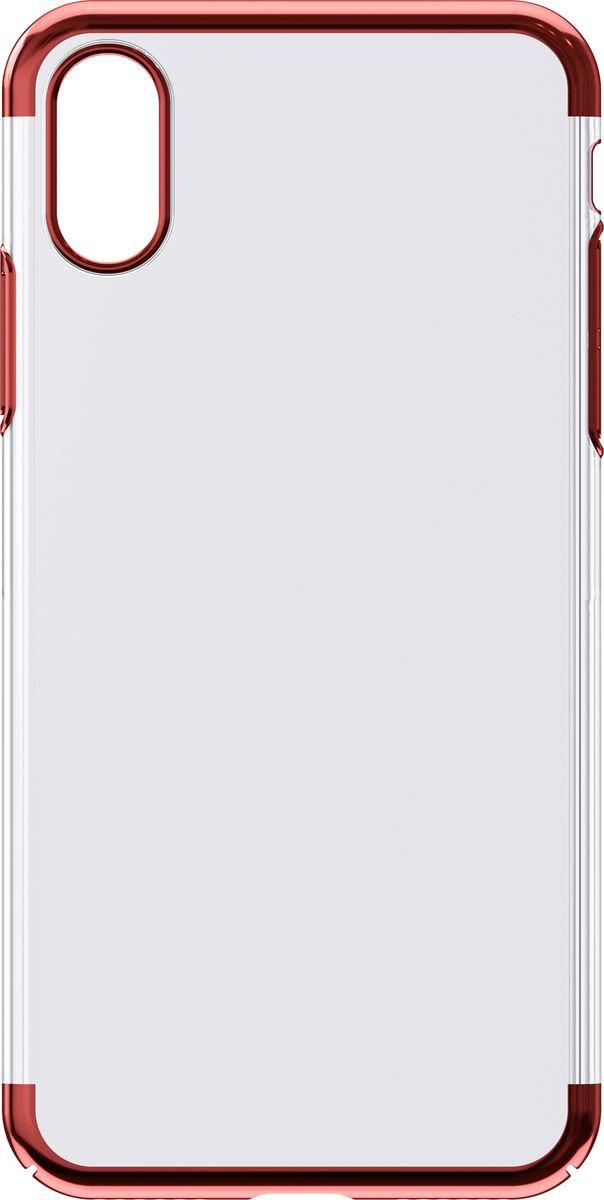Чехол для сотового телефона Interstep Is Decor ADV для Apple iPhone XS, HDC-IPH5818K-NP1104O-K400, красный чехол для сотового телефона interstep armore для nokia 3 black harno00003knp1101ok100