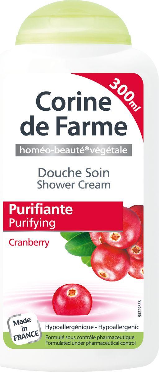 Гель для душа Corine De Farme Очищающий уход, с экстрактами клюквы и граната, 300 мл corine de farme мой интимный уход крем гель для душа защищающий 250 мл