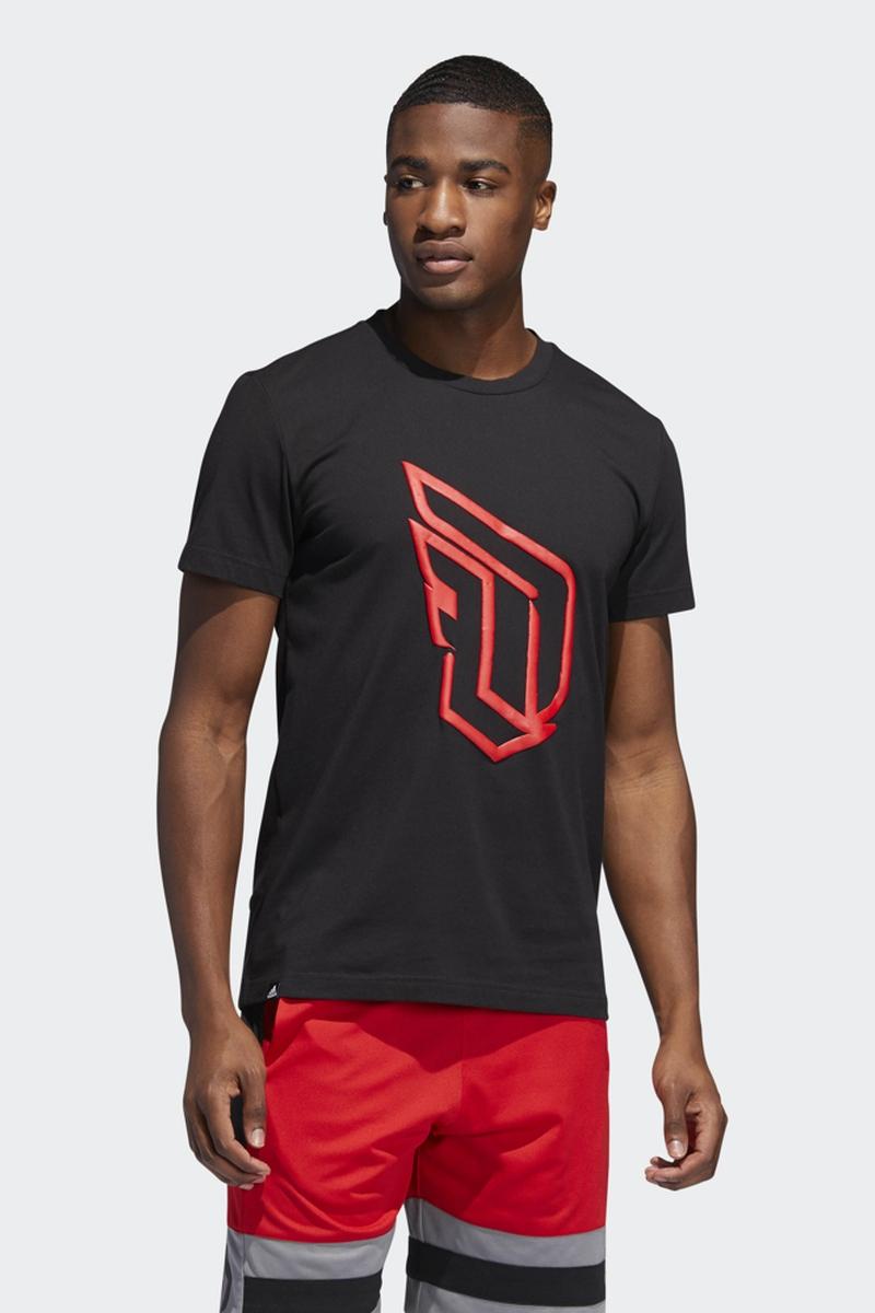 Футболка adidas Dame Logo Tee футболка мужская adidas ascend tee цвет серый dw5633 размер xl 56 58