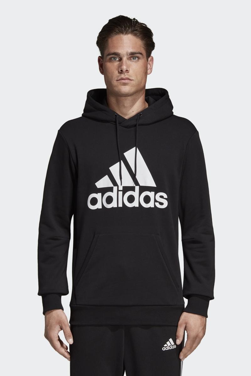 Худи мужское Adidas Mh Bos Po Ft, цвет: черный. DQ1461. Размер XXL (60/62)DQ1461