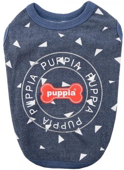 "Футболка для собак Puppia ""SIMON"", синяя, S (Южная Корея)"