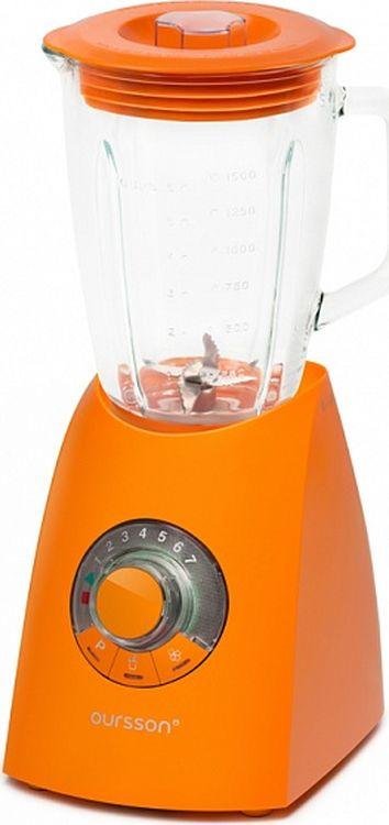 Настольный блендер Oursson, BL0643T/OR, оранжевыйBL0643T/ORБлендер подойдет для людей, ведущих здоровый образ жизни. С его помощью можно готовить пюре и муссы из свежих и вареных овощей, фруктов и ягод, колоть лед, взбивать смузи и молочные коктейли, смешивать напитки. Блендер за считанные секунды приготовит тесто для блинчиков, оладий или омлета. Поворотный переключатель и кнопки позволяют выбрать необходимую программу измельчения, а также установить необходимую скорость от 1 до 7 или выбрать режим быстрого смешивания. Функция легкой очистки сделает уход за прибором удобнее и проще.