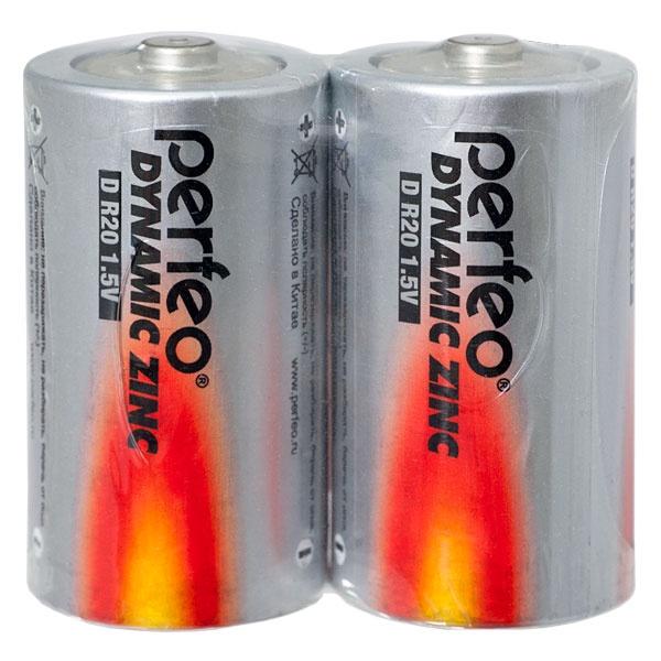 Батарейка Perfeo Солевая, PF R20/2SH батарейка perfeo r6 4sh dynamic zinc 4 штуки