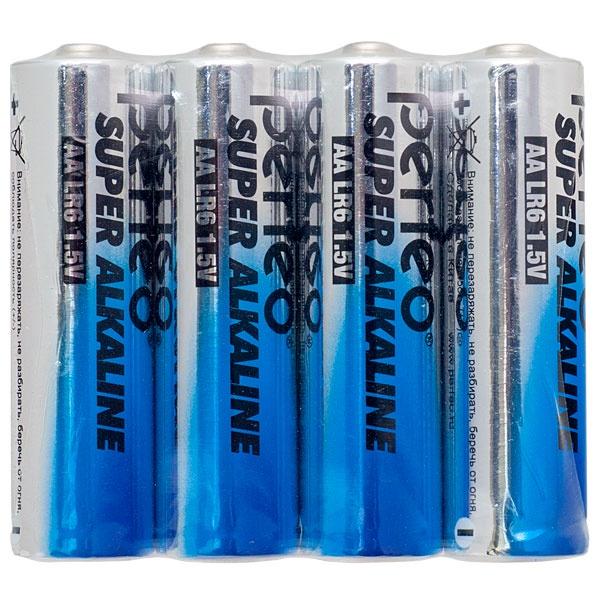Батарейка Perfeo Алкалиновая, PF LR6/4SH батарейка perfeo r6 4sh dynamic zinc 4 штуки