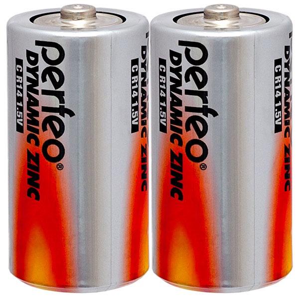 Батарейка Perfeo Солевая, PF R14/2SH батарейка perfeo r6 4sh dynamic zinc 4 штуки