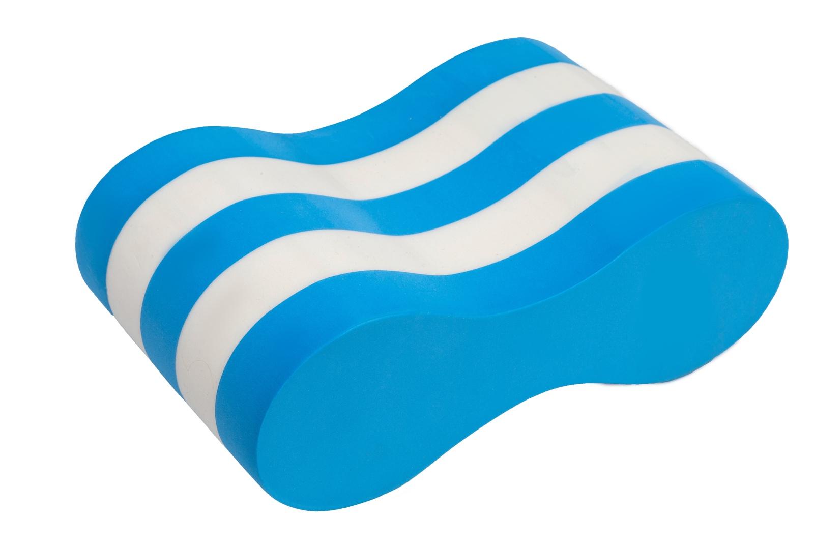 Доска для плавания Bradex Колобашка для плавания бело-голубая, SF 0310