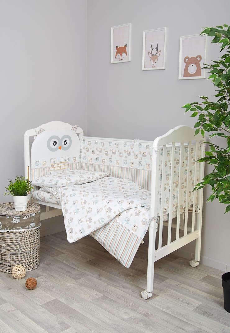 Комплект белья для новорожденных Сонный гномик Софушки, 671_4, бежевый одеяло vikalex бязь холлофайбер 110х140 серый с бантиками vi21104
