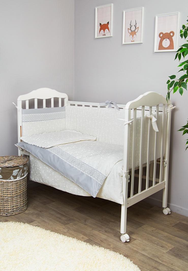 Комплект белья для новорожденных Сонный гномик Тридцать три Короны, 619, голубой