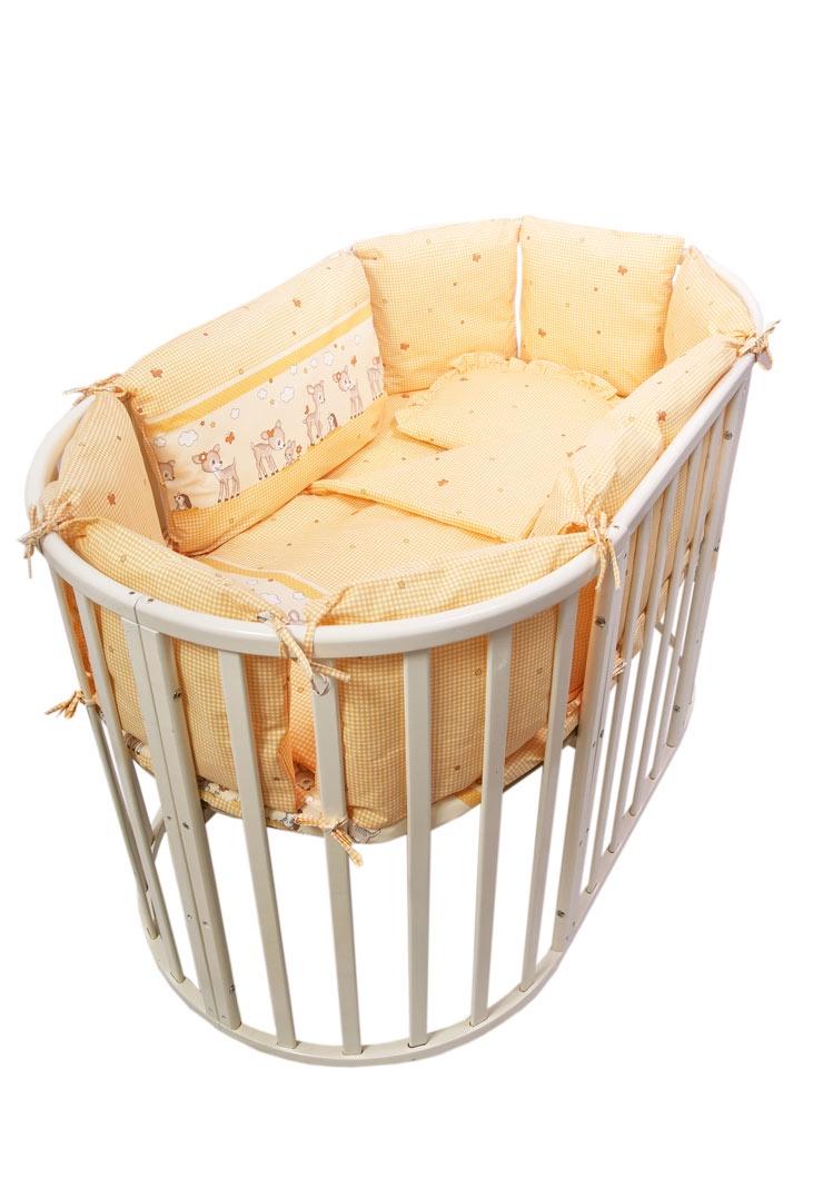 Фото - Комплект белья для новорожденных Сонный гномик Оленята, 427-10_4, желтый комплект белья для новорожденных сонный гномик жирафик бежевый белый