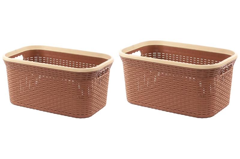 Набор корзин Violet Ротанг, 2 штуки, коричневый набор из 2 грибных корзин природный интерьер k 2224 s 2