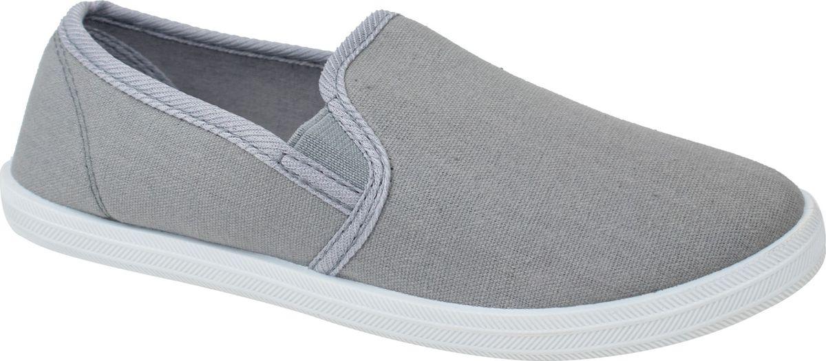 Слипоны для мальчика Bris, цвет: серый. BKK40191-06. Размер 32BKK40191-06Слипоны из текстильных материалов на подошве из ПВХ.