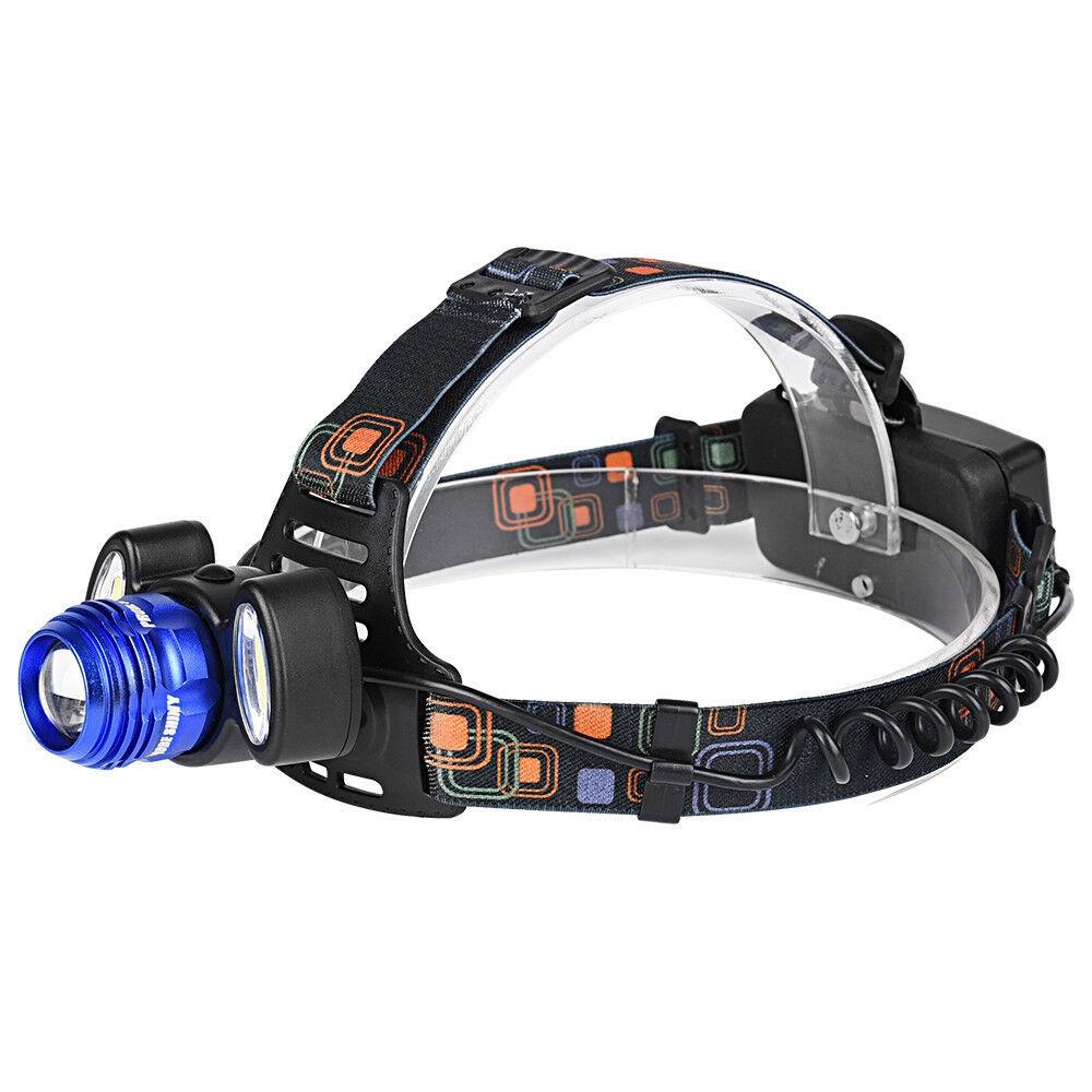 Налобный фонарь TipTop hl-15000Lm-3x-T6, 4605180070292, синий
