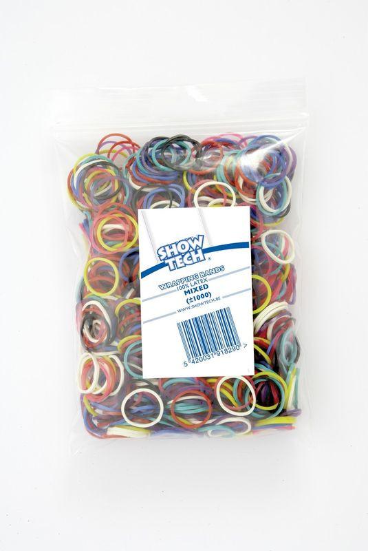 Резинки для животных Show Tech Wrap Bands, 65STE066, диаметр 16 мм, 1000 шт белоснежка резиночки для плетения цвет светло зеленый 1000 шт
