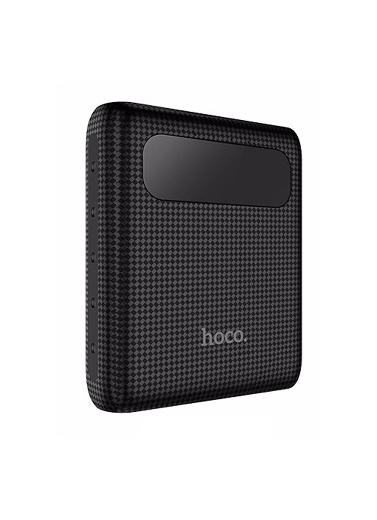 Внешний аккумулятор Hoco 10000 mah, черный внешний аккумулятор hoco 5200 mah серый