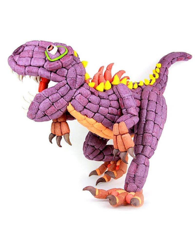 Мягкий конструктор FindusToys Magic Nuudles, большой динозавр, FD-06-003