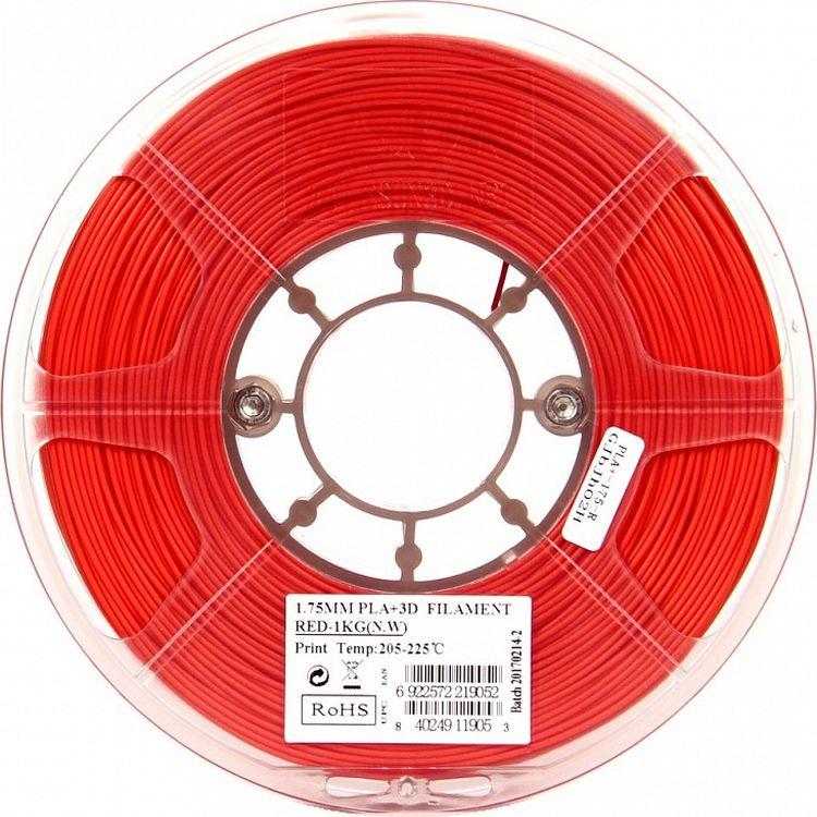 Пластик PLA+ для 3D печати ESUN, в катушке, 1,75 мм, PLA+175R1, красный, 1 кг