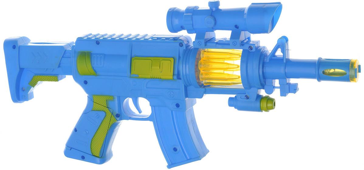 Игрушечное оружие Автомат Атака, 386082, цвет: синий игрушечное оружие пистолет воздушная атака 2894991