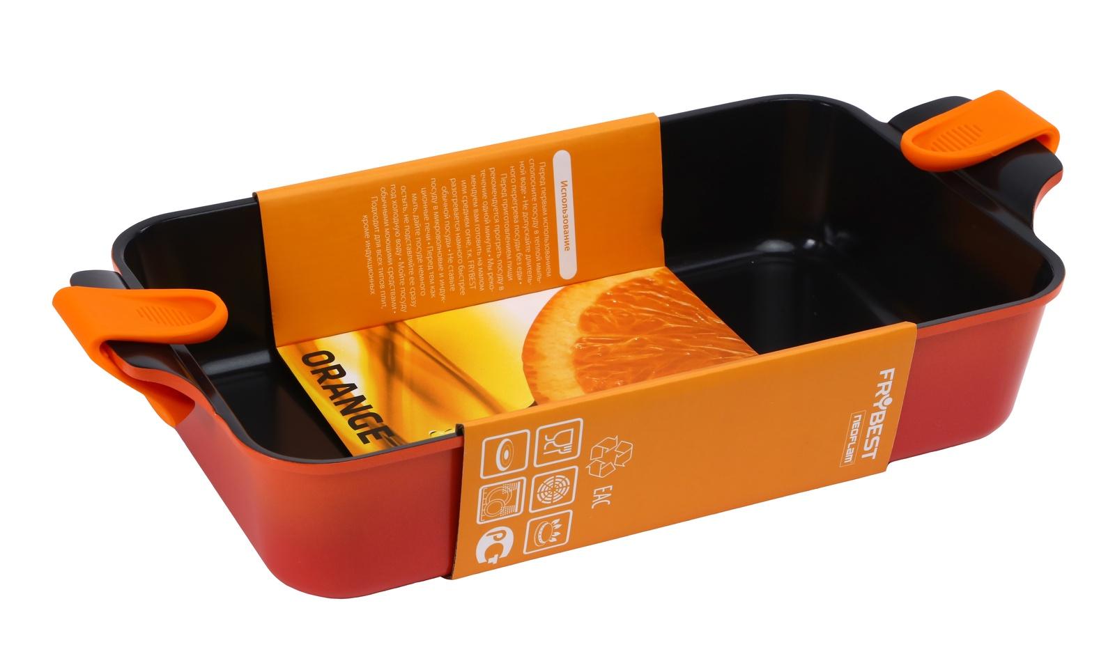 Форма для запекания FRYBEST ORCA-4422 Orange форма 44*22 см, оранжевый цена