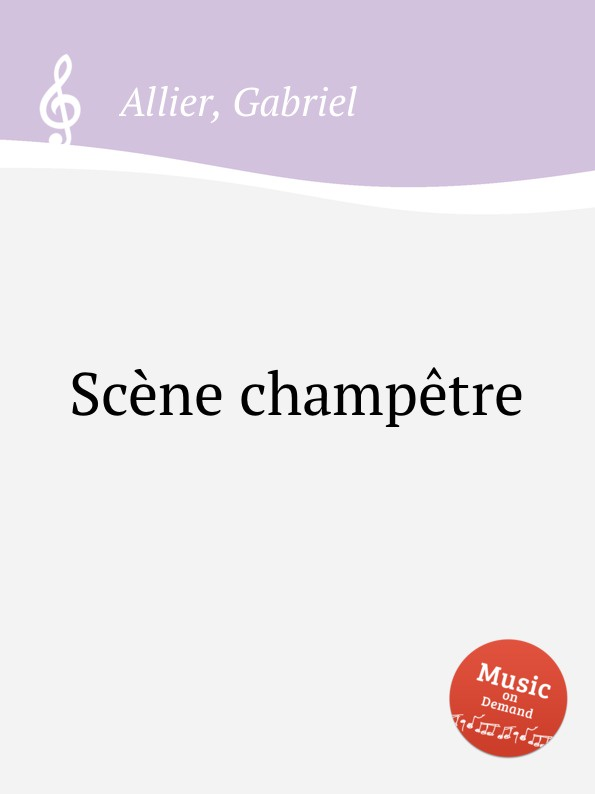 G. Allier Scene champetre l k neff suite for flute oboe clarinet bassoon and harpsichord