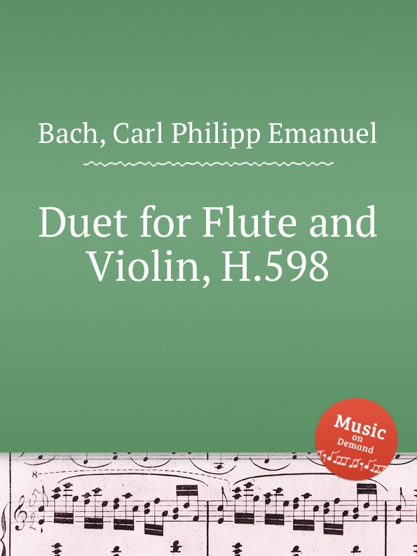Cal P. E. Bach Duet for Flute and Violin, H.598 traditional handcrafted bamboo flute with flute diaphragm and soft pouch e key