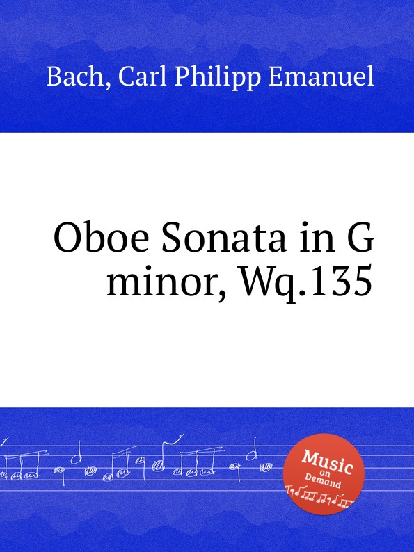 лучшая цена Cal P. E. Bach Oboe Sonata in G minor, Wq.135