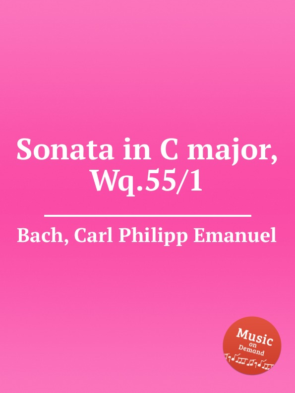Cal P. E. Bach Sonata in C major, Wq.55/1 cal p e bach sonata in a major wq 65 32