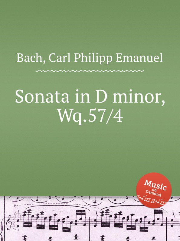 Cal P. E. Bach Sonata in D minor, Wq.57/4 cal p e bach sonata in d minor wq 62 4