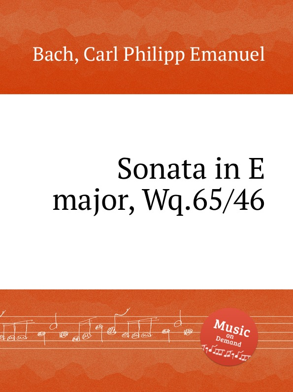 Cal P. E. Bach Sonata in E major, Wq.65/46 cal p e bach sonata in a major wq 65 32