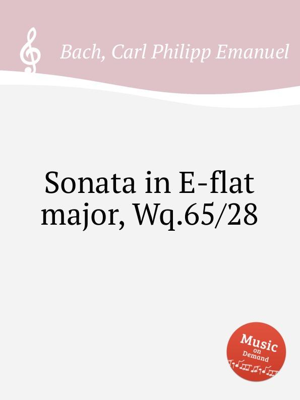 Cal P. E. Bach Sonata in E-flat major, Wq.65/28 cal p e bach sonata in a major wq 65 32
