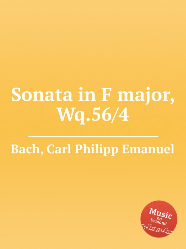 лучшая цена Cal P. E. Bach Sonata in F major, Wq.56/4