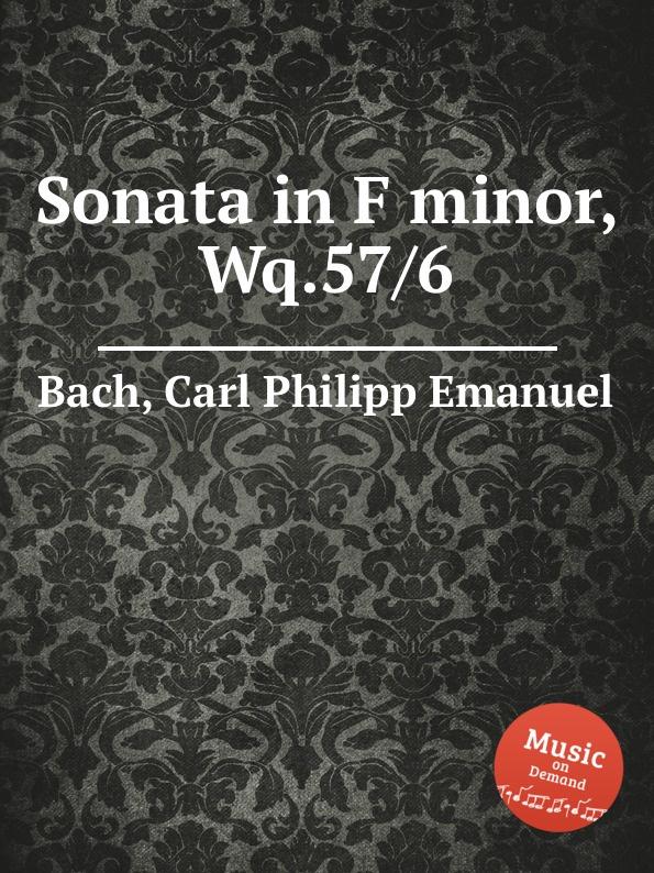 Cal P. E. Bach Sonata in F minor, Wq.57/6 cal p e bach sonata in b minor wq 55 3