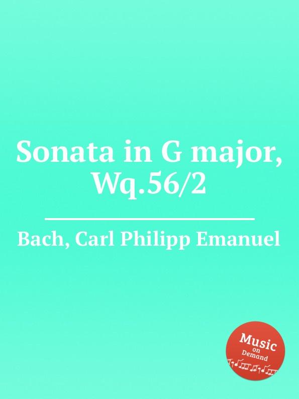 лучшая цена Cal P. E. Bach Sonata in G major, Wq.56/2