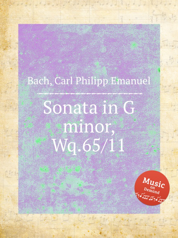 Cal P. E. Bach Sonata in G minor, Wq.65/11 cal p e bach harpsichord concerto in g minor wq 32