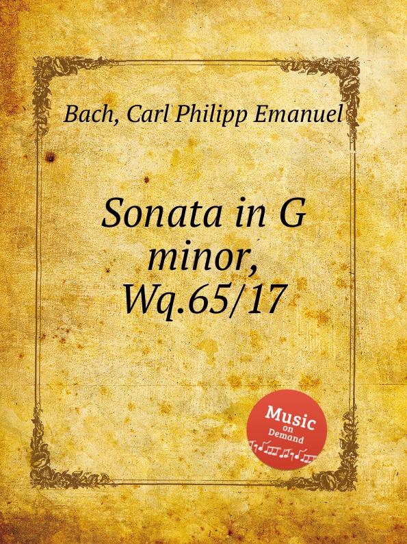 Cal P. E. Bach Sonata in G minor, Wq.65/17 cal p e bach sonata in b minor wq 65 13