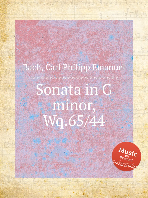 Cal P. E. Bach Sonata in G minor, Wq.65/44 cal p e bach harpsichord concerto in g minor wq 32