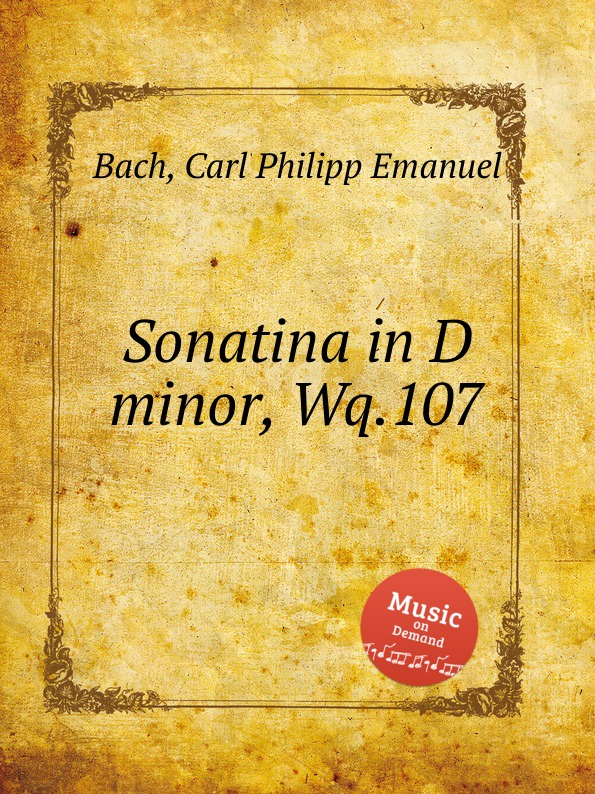 Cal P. E. Bach Sonatina in D minor, Wq.107